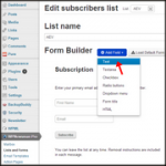 Create signup form in WPNewsman